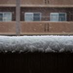 レンジファインダーカメラで雪の写真を部屋の中から撮る
